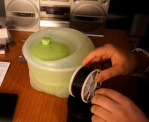 Salad spinner film dryer